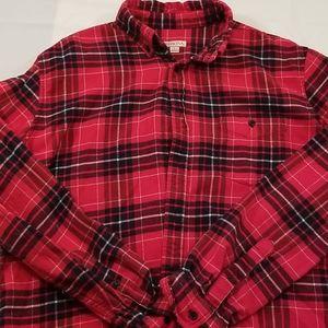 Merona Flannel Button Down Shirt L